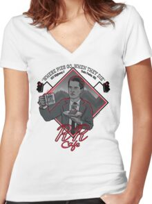Double R Diner Women's Fitted V-Neck T-Shirt