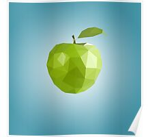 Polygon Apple Poster