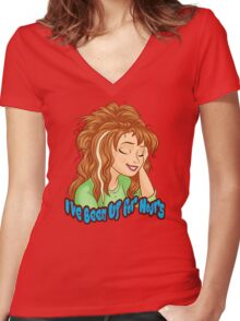 I've Been Up for Hours Women's Fitted V-Neck T-Shirt