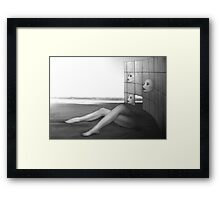 Desolate - Self Portrait Framed Print