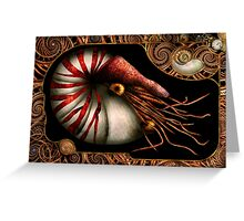 Steampunk - Nautilus - Coming out of your shell Greeting Card