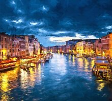 Grand Canal Illuminated by solnoirstudios