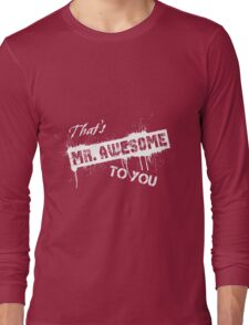 Voodoo Designs Mr. Awesome Long Sleeve T-Shirt