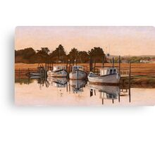 Early Morning, Fishing Boats at Thornham Canvas Print
