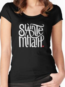 Slainte Mhath in white and red Women's Fitted Scoop T-Shirt