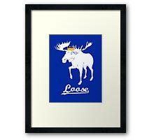 Moose is Loose Framed Print