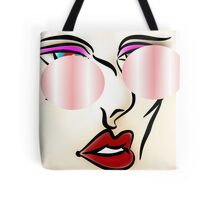 Beauty in Me - Lips Eyes Beauty Abstract Model Tote Bag