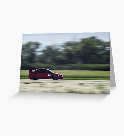Red Mitsubishi Evo X Greeting Card