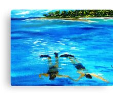 Snorkeling......Just the 2 Of Us.......... Canvas Print