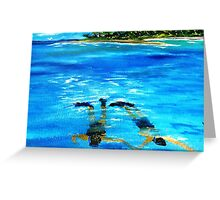 Snorkeling......Just the 2 Of Us.......... Greeting Card