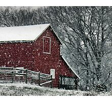 """Barn Bluster""... prints and products Photographic Print"