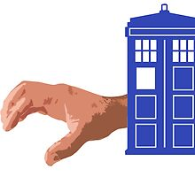 Doctor Who Flatline Crawling Hand Tardis by TeeHunter