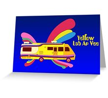 Yellow Lab RV Greeting Card