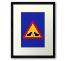 Warning: Falling Wizards 1.0 Framed Print