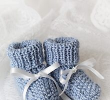 Baby Booties - Blue 1 by Ellesscee