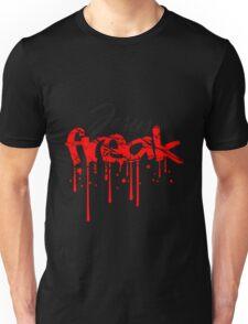 blut graffiti stempel risse kratzer verrückt freak text schriftzug jesus kreuz leben glauben christus cool logo design  Unisex T-Shirt