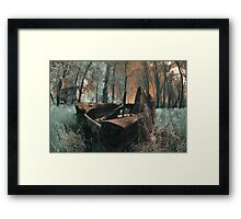 The Last Duck Hunt - Infrared Photo Framed Print