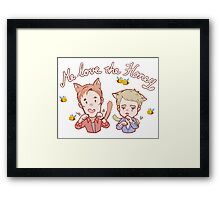 Cat!Freebatch with Bees Framed Print