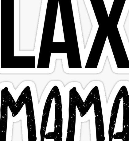 LAX Mama - Lacrosse Sports Team Kids Adult Sticker