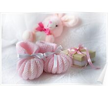 Baby Booties - Pink 3 Poster