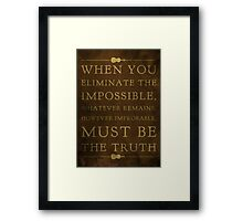 Sherlock, Eliminate the Impossible (Colour) Framed Print