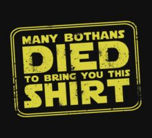 Many Bothan died bring you this shirt by icedtees