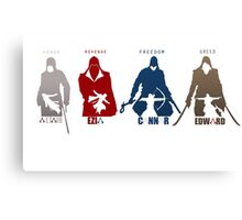 Assassin's Creed Heroes Canvas Print