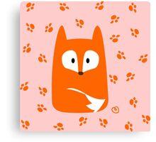 Cute Fox design artwork Canvas Print