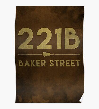 221B Baker Street (Colour) Poster