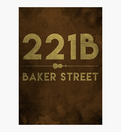 221B Baker Street (Colour) Photographic Print