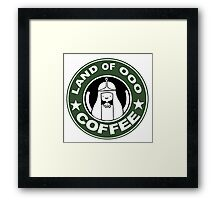 COFFEE: LAND OF OOO Framed Print