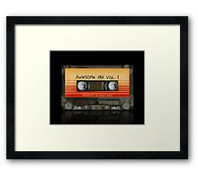 Awesome transparent mix cassette tape volume 1 Framed Print