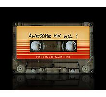 Awesome transparent mix cassette tape volume 1 Photographic Print