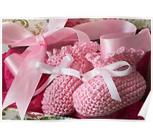 Baby Booties - Pink 5 Poster