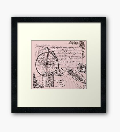 Vintage French Cycling Holiday Framed Print