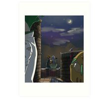 Quiet Night in Naples Art Print