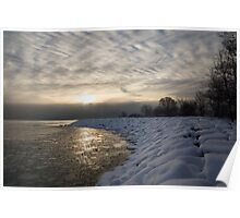 Cold, Moody and Fabulous - a Winter Morning on the Lake Shore Poster