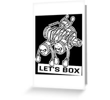 let's lets box funny geeks geek logo Greeting Card