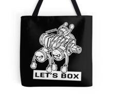 let's lets box funny geeks geek logo Tote Bag