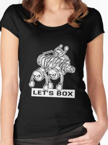 let's lets box funny geeks geek logo Women's Fitted Scoop T-Shirt
