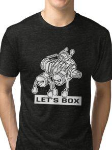 let's lets box funny geeks geek logo Tri-blend T-Shirt