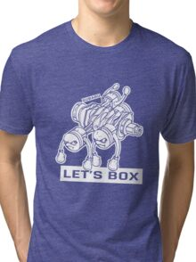 let's lets box funny geeks geek logo Tri-blend T-Shirt