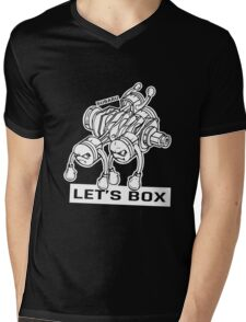 let's lets box funny geeks geek logo Mens V-Neck T-Shirt