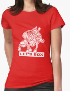 let's lets box funny geeks geek logo Womens Fitted T-Shirt