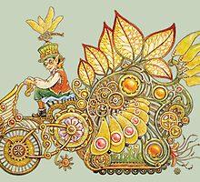 Steampunk Fairy Ride by BDMillustration