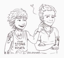 Louis pokes Harry's dimple by Aki-anyway