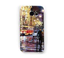 Prague Masarykovo Nabrezi Evening Walk Samsung Galaxy Case/Skin