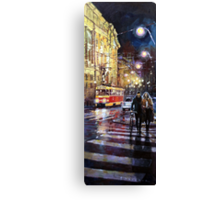 Prague Masarykovo Nabrezi Evening Walk Canvas Print