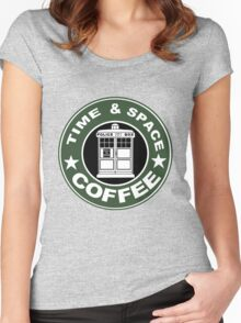COFFEE: TIME AND SPACE Women's Fitted Scoop T-Shirt