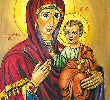 Virgin Marry With Jesus Infant by Lidiya